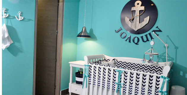 Colores en armon a para el hogar de un beb revistas for Decoracion habitacion bebe marinero