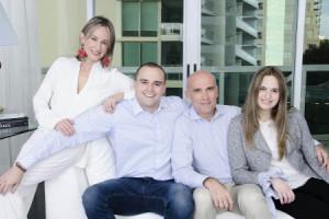 Rosa Franco, Camilo Ríos y Silvia Tcherassi
