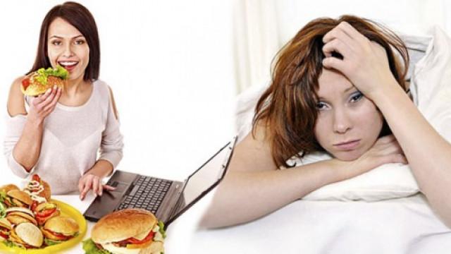 Resultado de imagen para dormir mucho y comer mal